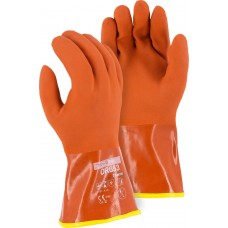 3703 Winter Lined PVC Double Dipped Glove on Seamless Knit Shell with Removable Liner