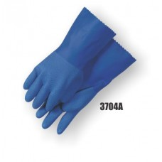 Pvc Double Dipped, Rough Finish, Seamless Knit Liner, 12 Inch, Blue
