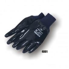 Neoprene, Smooth Finish, Interlock Lined, Knit Wrist, Black