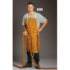 Bib Apron, Split Cowhide, Kevlar Sewn, 36 Inch