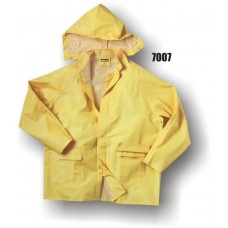 Rainsuit, Pvc/Poly, Bib Overall, Jacket, Hood, Corduroy Collar, 35mm, Yellow