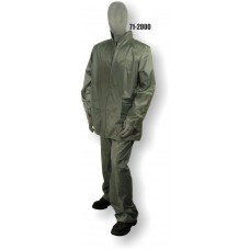 Jacket/Pants Polyester/PVC Coated, Rainsuit, .20mm, Green