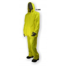 Jacket/Pants Polyester/PVC Coated, Rainsuit .20mm, Yellow