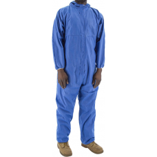 74-202F BlazeTEX FR SMS Anti-Static Coverall with Hood and Elastic Wrist & Ankle