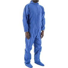 74-203F BlazeTex FR SMS Anti-Static Coverall with Hood, Boots and Elastic Wrist & Ankle