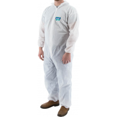 74-302 ResisTEX PP/CPE Serged Seam Coverall with Hood and Elastic Wrist & Ankle