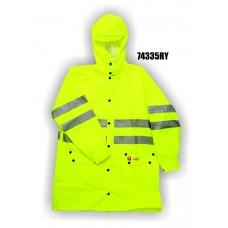 Flexothane Jacket, Class 3, Flame Retardant, Fluorescent Yellow, 3m Reflective Striping