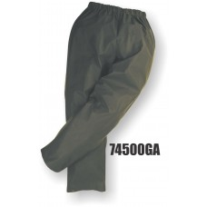 M-Safe PU Rainwear, Flexible Waist Pant, Snap Ankle, Green