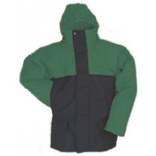 4899, Flexothane Jacket, Lined, With Hood, Navy/Green