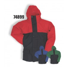 4899, Flexothane Jacket, Lined, With Hood, Navy/Red