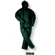 4964, Flexothane Coverall, W/ Hood, Green