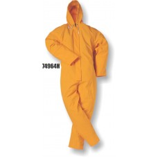 4964, Flexothane Coverall, W/ Hood, Orange