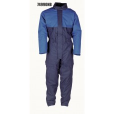 4990, Flexothane Coverall, Lined, With Hood, Navy/Blue