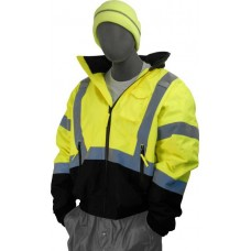 Hi-Vis Yellow Bomber Jacket. Black bottom, Yellow