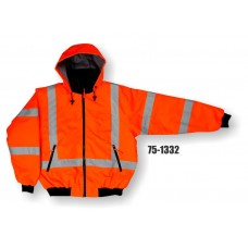 BOMBER JKT ,LINED, CSA HV, ORANGE, LEVEL 3