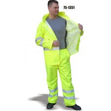 High Visibility rain jacket is 100% polyester Yellow, LEVEL 3
