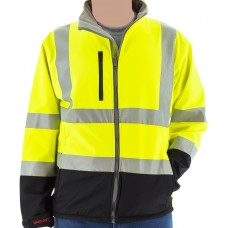 High Visibility Water Resistant Softshell Jacket and Liner, ANSI 3, Type R