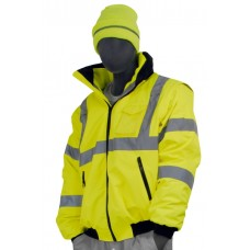 Transformer (8in1) Jacket, Hi-Vis, Waterproof and Cold Resistant, Garments meet or exceed current ANSI 107-2010 Class 3 Standard, Yellow