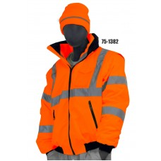 Transformer (8in1) Jacket, Hi-Vis, Waterproof and Cold Resistant, Garments meet or exceed current ANSI 107-2010 Class 3 Standard, Orange