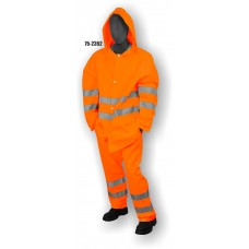 Hi-Vis Orange Rain Pant, ANSI / ISEA 107-2010 Class 3 Compliant 100% polyester, Orange