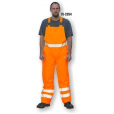 Hi-Vis Orange Rain Bib Overall, ANSI / ISEA 107-2010 Class E compliant 100% Polyester, Orange