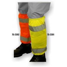 Hi-Vis Orange Leg Gaiters ANSI / ISEA 107-2010 Class E Compliant Material: 100% Polyester