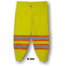 Lightweight Yellow Mesh Pants with DOT Striping