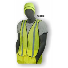 Hi-Vis Yellow Vest NON ANSI One Size Fits Most Material: 100% Polyester