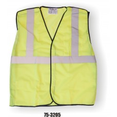 Yellow 5 Point Break Away Vest, Adjustable size, Silver Striping