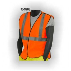 Orange 5 Point Break Away Vest, Adjustable size, Silver Striping