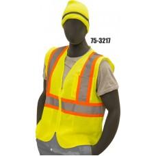 Mesh Vest, High Visibility, Class 2, Yellow, Zipper