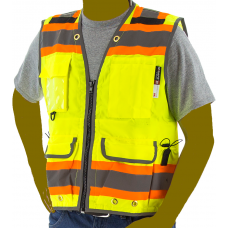 Yellow Two-Tone Heavy Duty Class 2 Surveyor's Vest