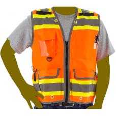 Orange Two-Tone Heavy Duty Class 2 Surveyor's Vest
