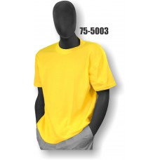 Premium Birdseye Eye Material, Short Sleeve T-Shirt, 100% Polyester, Non-ANSI, Yellow