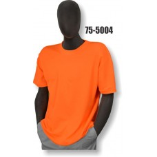 Premium Birdseye Eye Material, Short Sleeve T-Shirt, 100% Polyester, Non-ANSI, Orange