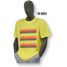 T-shirt, HV-Yellow Birdseye, Site Safety