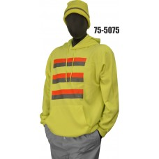 50/50 Cotton/Poly, Sweatshirt, Non-ANSI Yellow