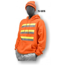 50/50 Cotton/Poly, Sweatshirt, Non-ANSI Orange