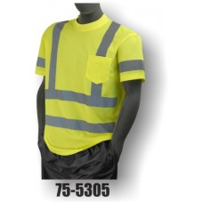 Hi-Vis Yellow T-Shirt. Double Stripe. ANSI / ISEA 107-2010 Class 3 compliant