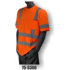 Hi-Vis Orange T-Shirt. Double Stripe. ANSI / ISEA 107-2010 Class 3 compliant