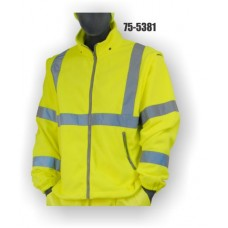High Visibility, Yellow, Fleece Vest (includes Free sleeves / Becomes Class 3)