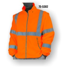 High Visibility, Orange, Fleece Vest (includes Free sleeves / Becomes Class 3)
