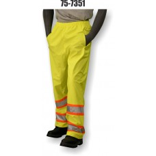 Hi-Vis PU Yellow Rain Pant, Contrasting DOT Stripe, ANSI / ISEA 107-2010 Class E Compliant