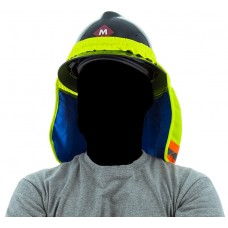High Visibility Yellow Cooling Neck Shade with Evaporative Cooling Neck