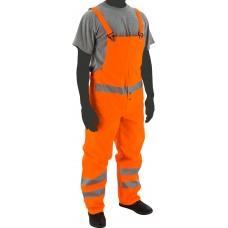 Flexothane Bib Trouser, Fluorescent Orange, 3m Reflective Striping