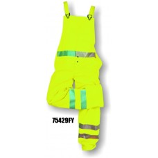 Flexothane Bib Trouser, Fluorescent Yellow, 3m Reflective Striping