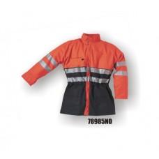 8985, Flexothane Jacket, Lined, Navy/Orange, 3m Reflective Striping