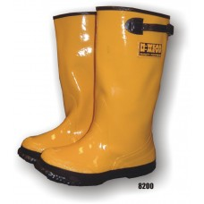 Rubber Boot, Slush, Over Shoe, 17 Inch, Yellow