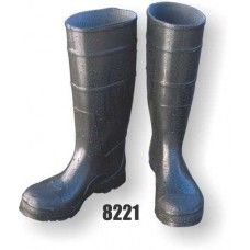 Pvc Boot, Steel Toe, 17 Inch, Black