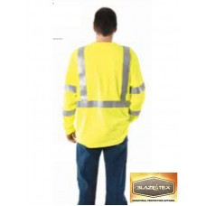 BlazeTex FR Knit Hi-Viz Class III Long Sleeve T-Shirt